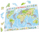 Physical  Map of The World- Frame/Board Jigsaw Puzzle 29cm x 37cm (LRS  K4-GB)